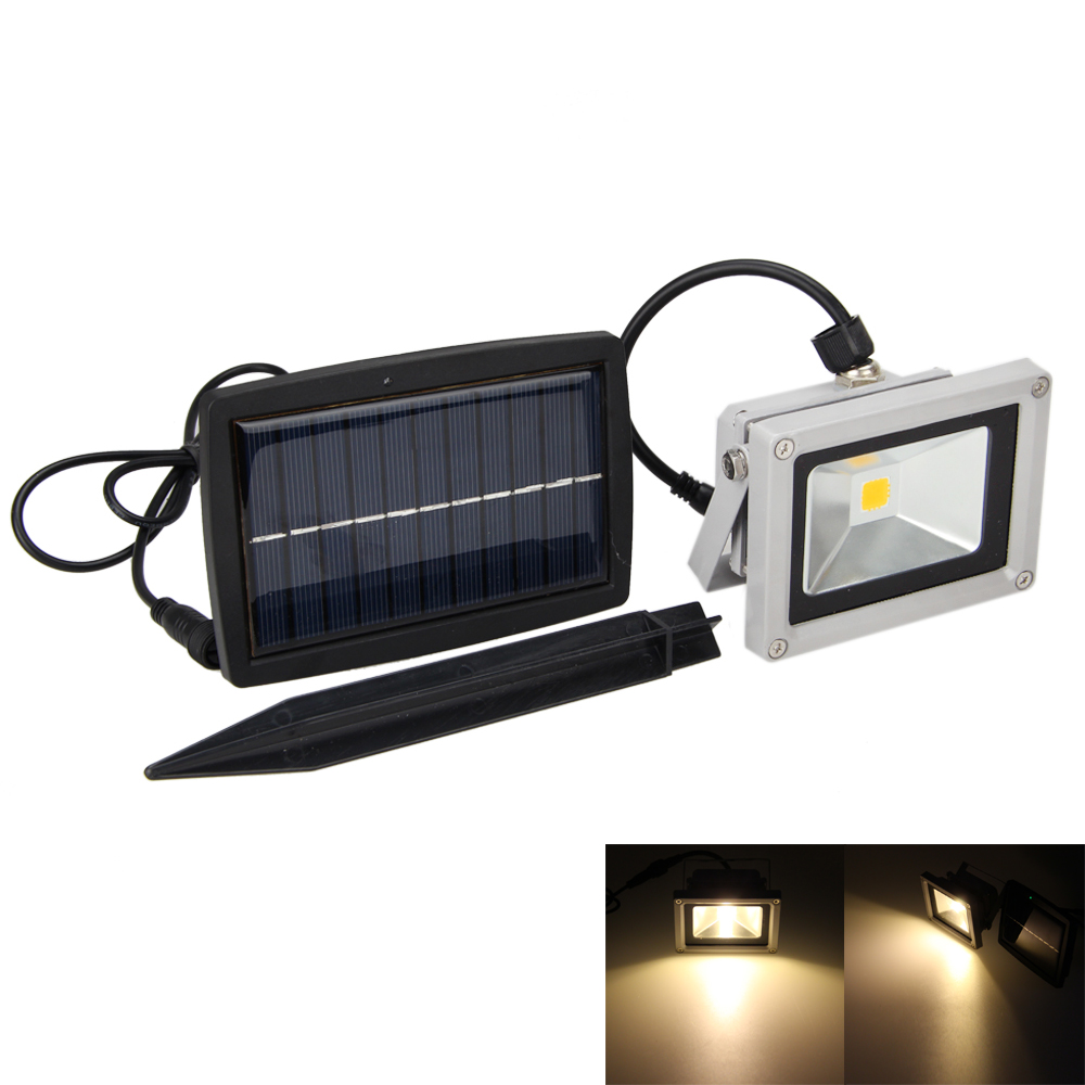 10w warm wei led trio solarspot solarleuchte solarlampe solar gartenstrahler ebay. Black Bedroom Furniture Sets. Home Design Ideas