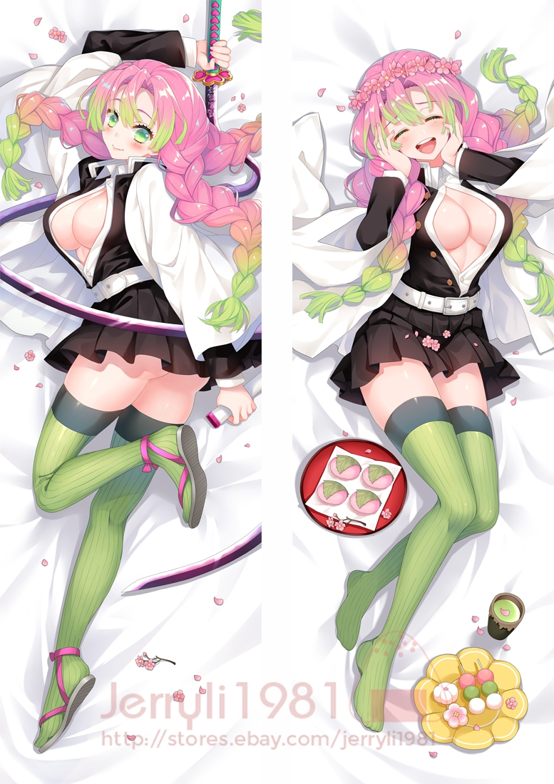 "Demon Slayer Kamado Nezuko Anime Dakimakura Hugging Body Pillow Case Cover 59/"""