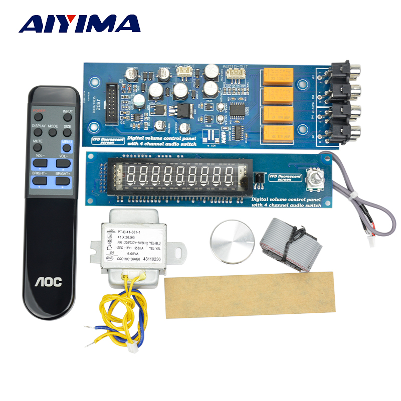 4 Way VFD Digital Volume Control Board HiFi Preamplifier