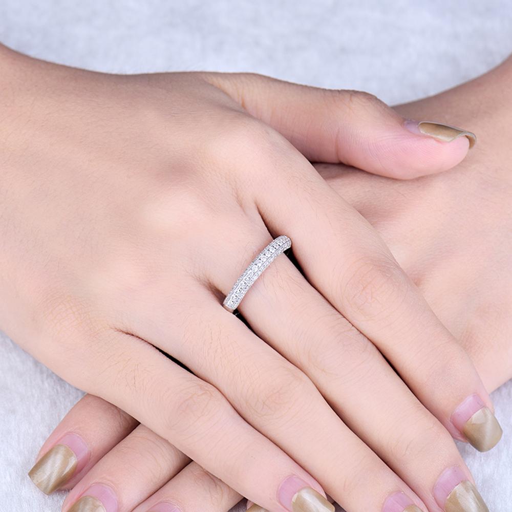 New Fancy Brilliant Diamonds Wedding Band Rings 14K White Gold For ...