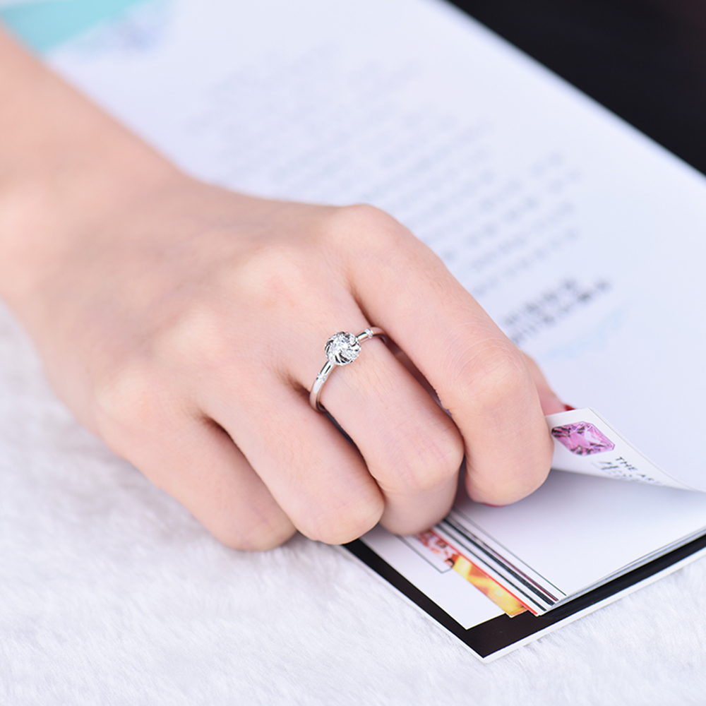 New Design Windmill Shape Natural Diamond Engagement Fine Ring 18K ...