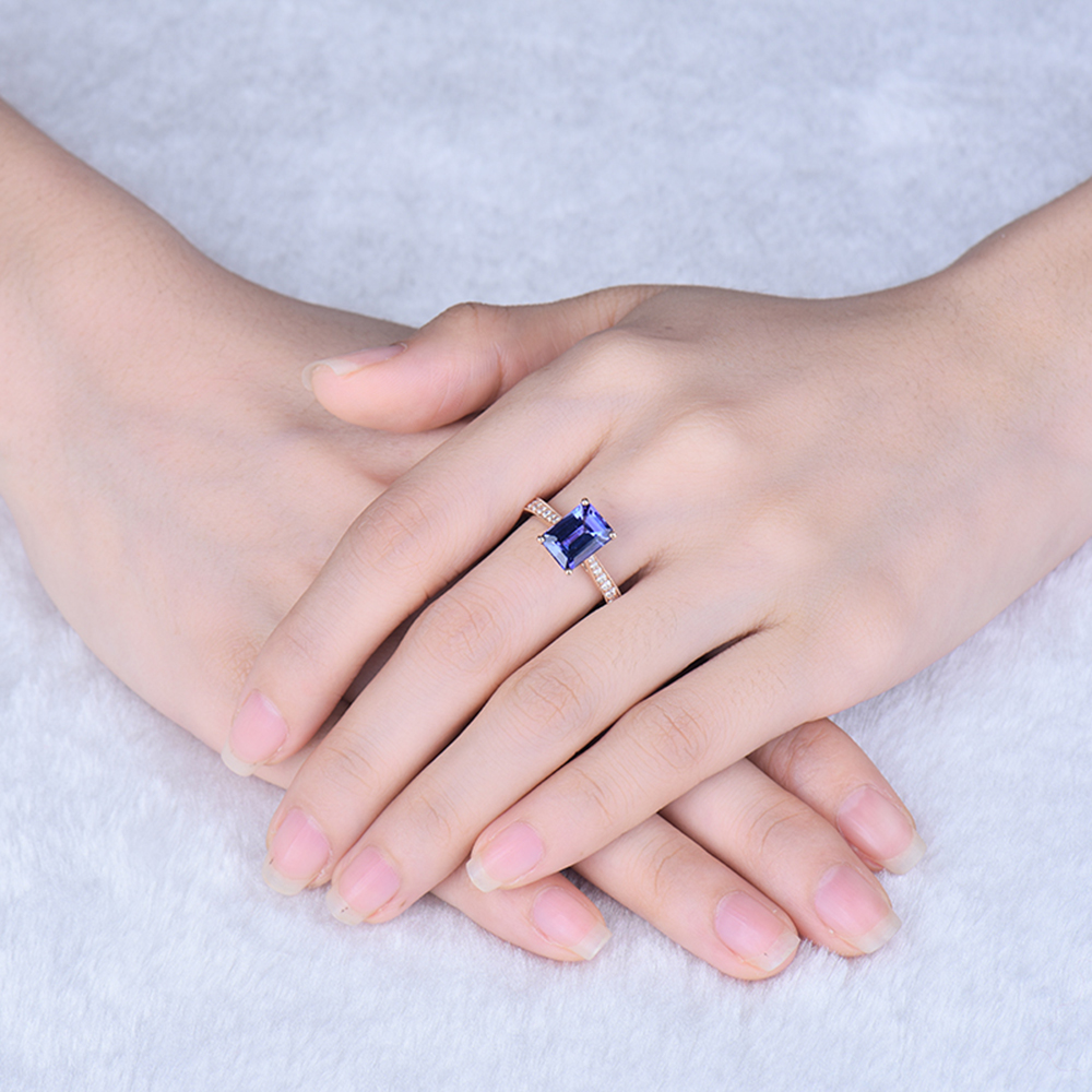 New Design Jewelry 14K Rose Gold Natural Diamond Engagement AAAA ...