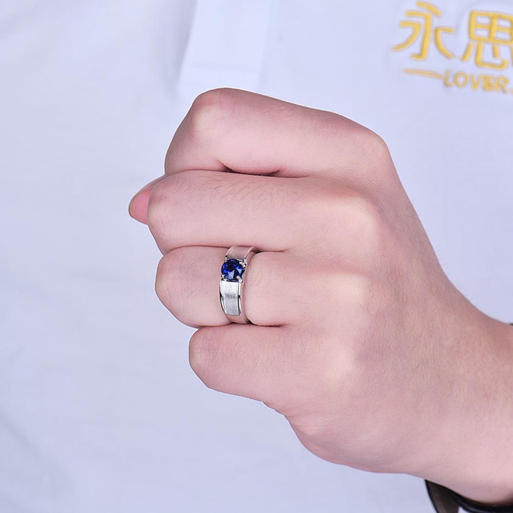 Beautiful Jewelry 14K White Gold Round Shape 5.5mm Natural Sapphire ...
