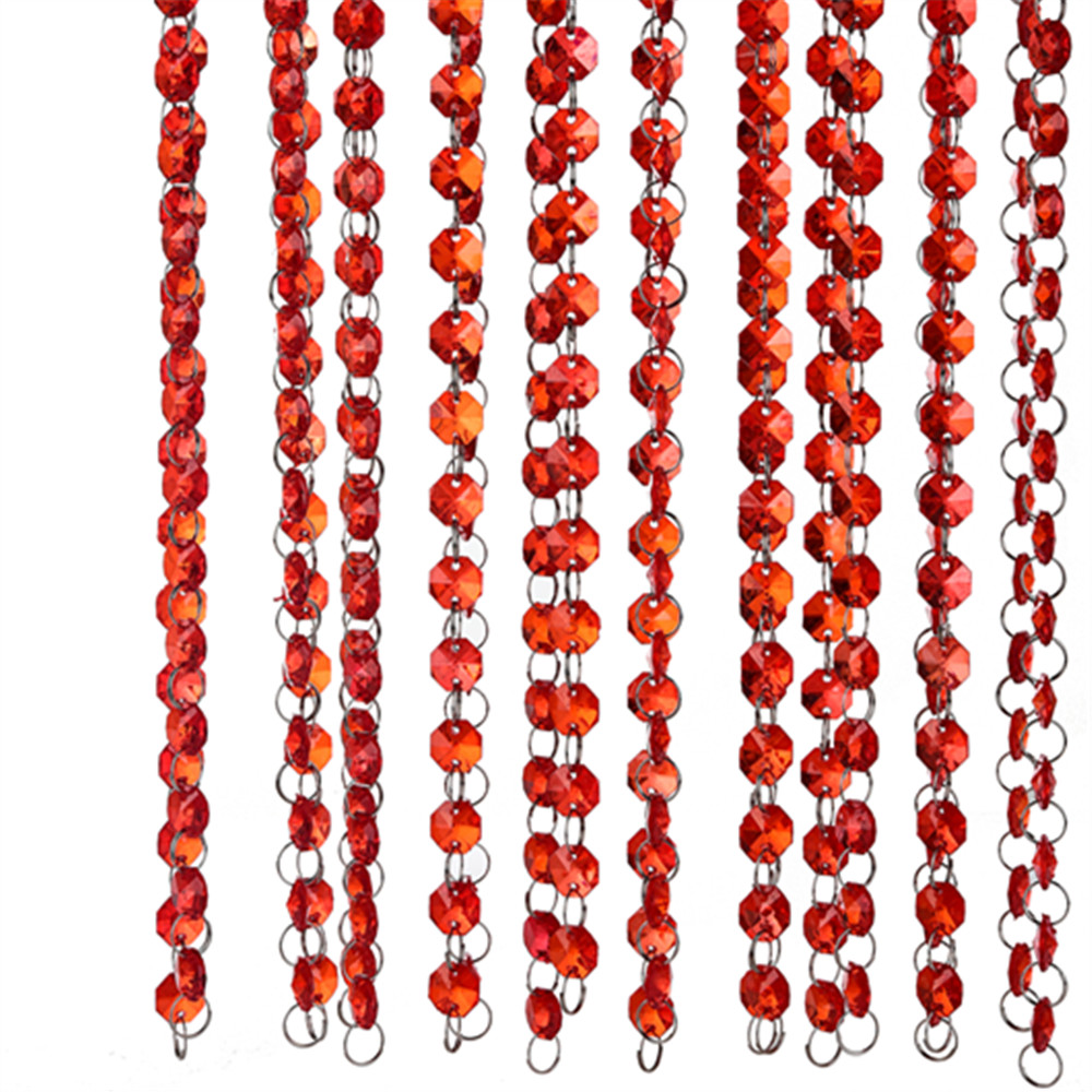 10 Pack Crystal Acrylic String Curtain Beads Divider Door