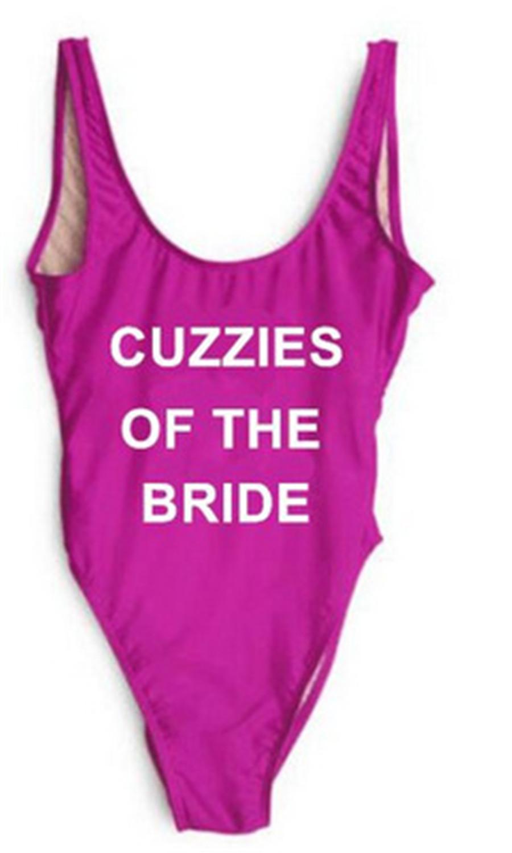BRIDE SQUAD Bacheloret Swimsuit Hen Party Swimwear Bodysuit Beachwear One  Piece d0c31ba6a4a4