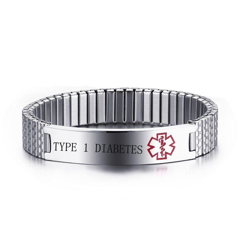 Medical Alert Spring Cuff Bracelet