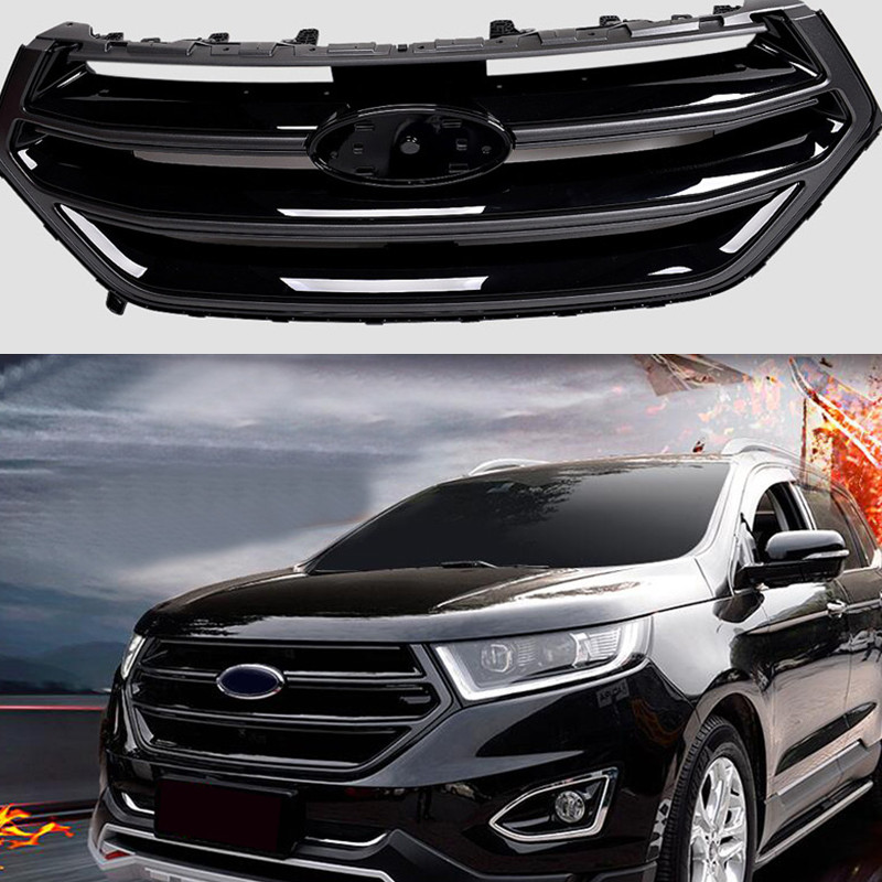 Black Front Grill Grille Sport Version No Camera Hole For Ford Edge