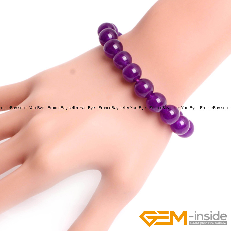Wholesale-Lot-Handmade-Fashion-Jewelry-Assorted-Colors-Beaded-Jade-Bracelet-7-5-034 thumbnail 41