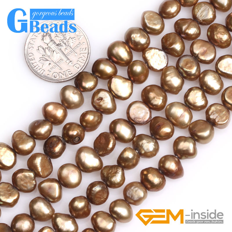 Assorted Colors 6-7mm Freeform Gemstone Pearl Beads Free