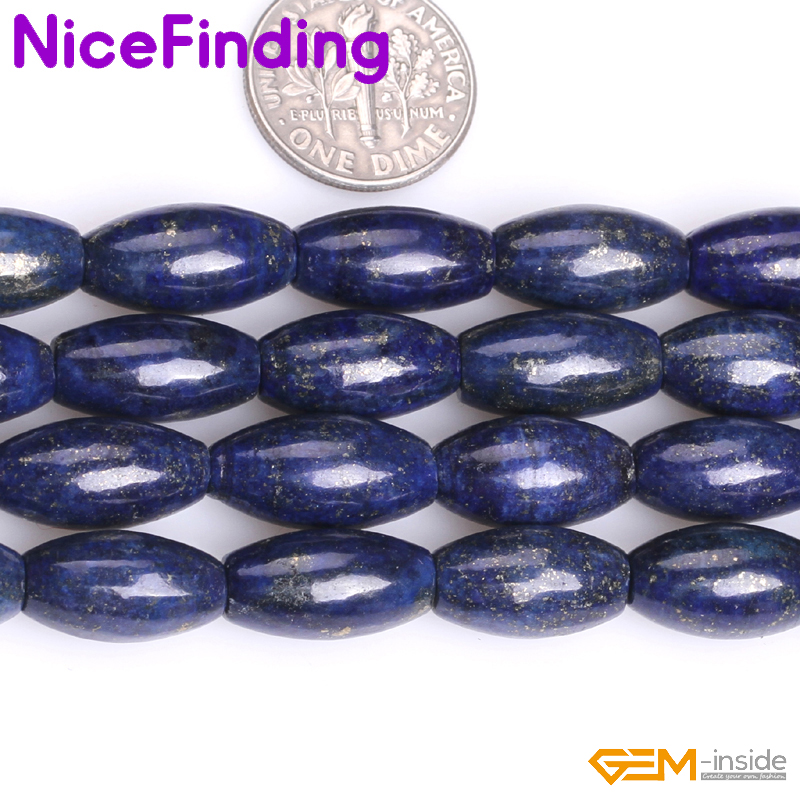 "10x30mm Natural Deep Blue Shell Olivary Shape DIY Gems Loose Beads Strand 15/"""