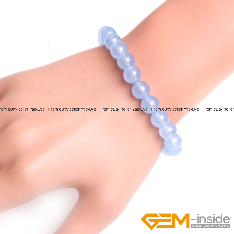 Wholesale-Lot-Handmade-Fashion-Jewelry-Assorted-Colors-Beaded-Jade-Bracelet-7-5-034 thumbnail 70