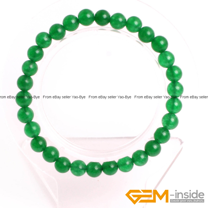 Wholesale-Lot-Handmade-Fashion-Jewelry-Assorted-Colors-Beaded-Jade-Bracelet-7-5-034 thumbnail 25