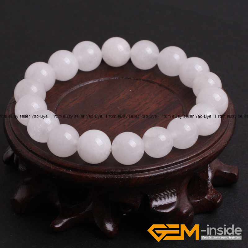 Wholesale-Lot-Handmade-Fashion-Jewelry-Assorted-Colors-Beaded-Jade-Bracelet-7-5-034 thumbnail 93