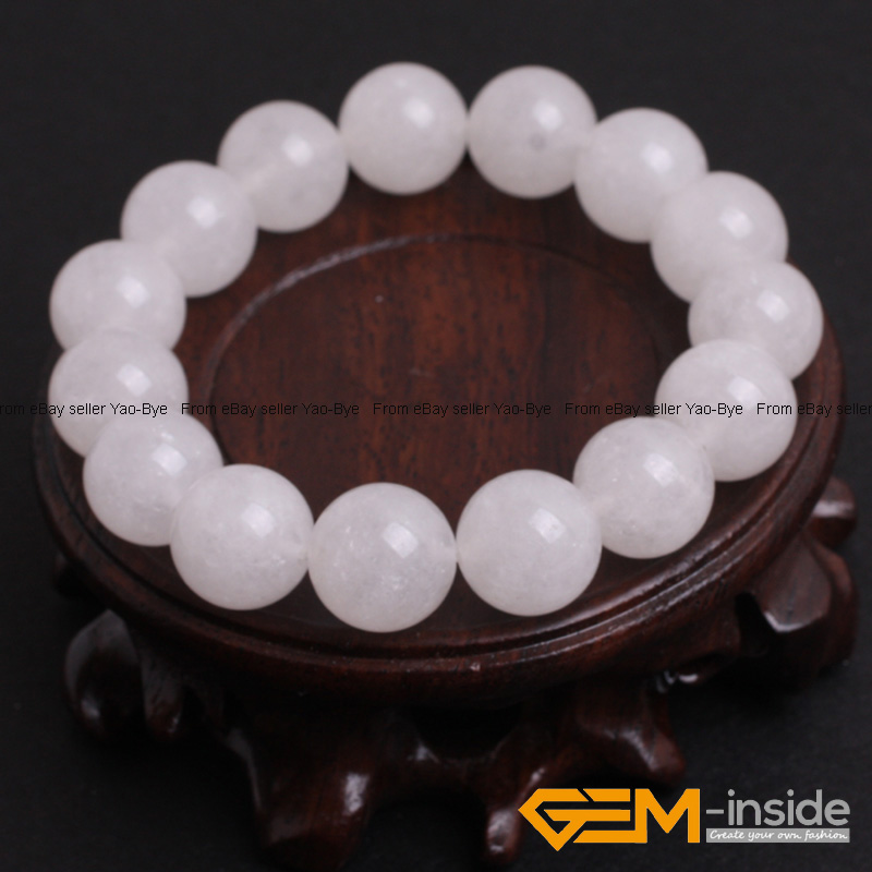 Wholesale-Lot-Handmade-Fashion-Jewelry-Assorted-Colors-Beaded-Jade-Bracelet-7-5-034 thumbnail 95