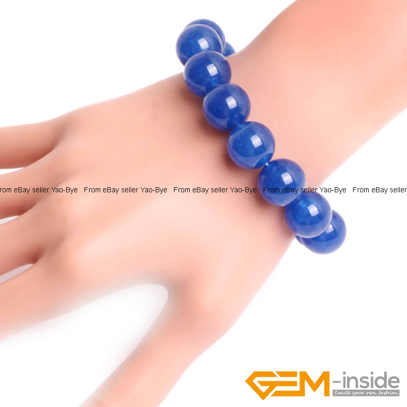 Wholesale-Lot-Handmade-Fashion-Jewelry-Assorted-Colors-Beaded-Jade-Bracelet-7-5-034 thumbnail 65