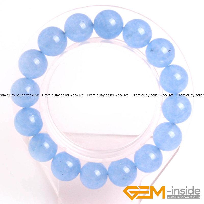 Wholesale-Lot-Handmade-Fashion-Jewelry-Assorted-Colors-Beaded-Jade-Bracelet-7-5-034 thumbnail 75