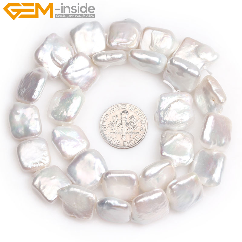 Beads Jewelry & Accessories Just 12x20mm White Coin Freshwater Pearl Natural Stone Beads For Diy Necklace Bracelets Earring Jewelry Making 15 Free Shipping