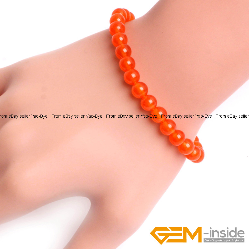 Wholesale-Lot-Handmade-Fashion-Jewelry-Assorted-Colors-Beaded-Jade-Bracelet-7-5-034 thumbnail 48