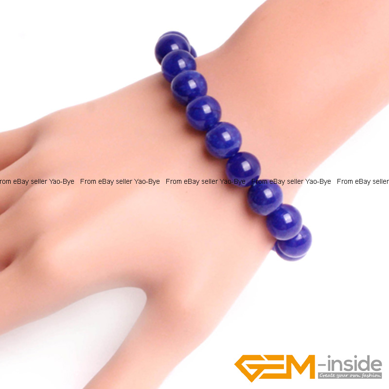Wholesale-Lot-Handmade-Fashion-Jewelry-Assorted-Colors-Beaded-Jade-Bracelet-7-5-034 thumbnail 61