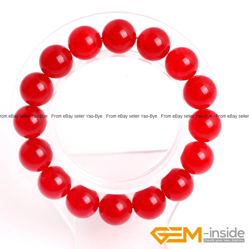 Wholesale-Lot-Handmade-Fashion-Jewelry-Assorted-Colors-Beaded-Jade-Bracelet-7-5-034 thumbnail 22