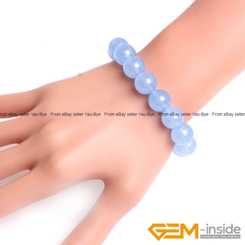 Wholesale-Lot-Handmade-Fashion-Jewelry-Assorted-Colors-Beaded-Jade-Bracelet-7-5-034 thumbnail 74
