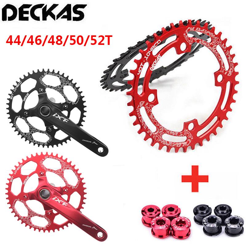 DECKAS 104BCD 40-52T Bike Narrow Wide Single Round Oval Chainring