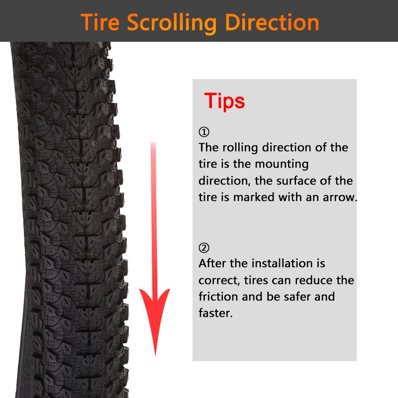rotation sign bike tyres