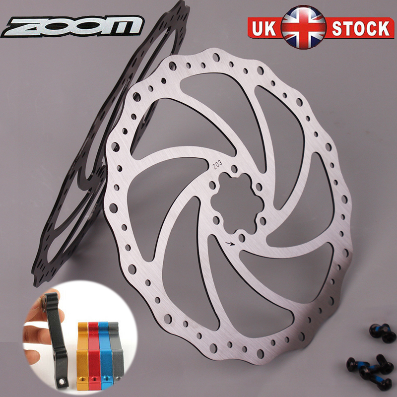 Folding Bike Mechanical Disc Brakes 160//180//203mm MTB Bike Disc Brake Rotor UK