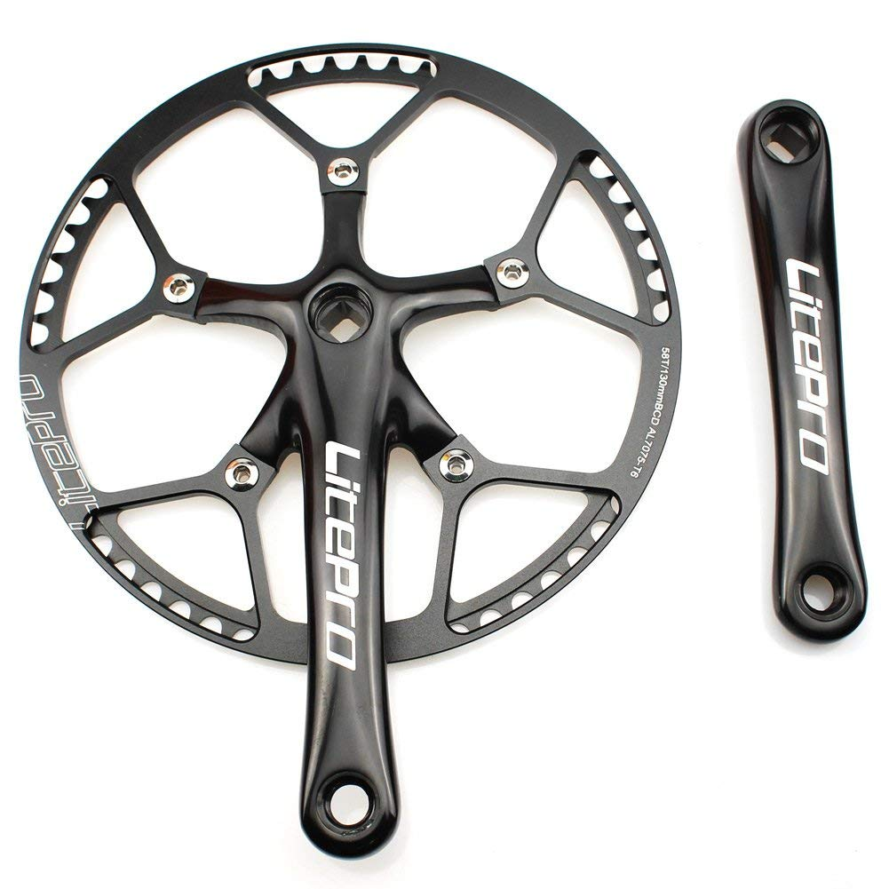 Litepro Road Bike 130BCD Crank Set Aluminum Alloy Round Chainring 170mm Crankset