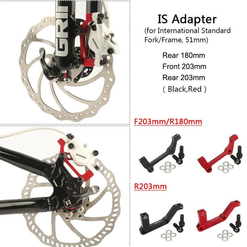 PM//IS Front Rear 180//203mm MTB Bike Disc Brake Adapter Calipers Brake Aluminium