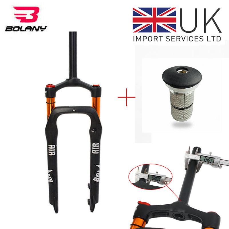"26*4.0/"" Fat Bicycle Air Shock Suspension Fork 120mm Travel 1-1//8/"" Snow Bike Fork"