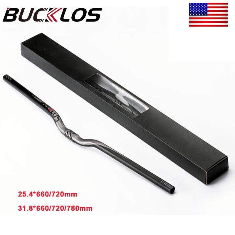 Aluminum 31.8//25.4mm MTB Handlebar Bicycle Flat//Riser Bar 660//720//780mm with Box