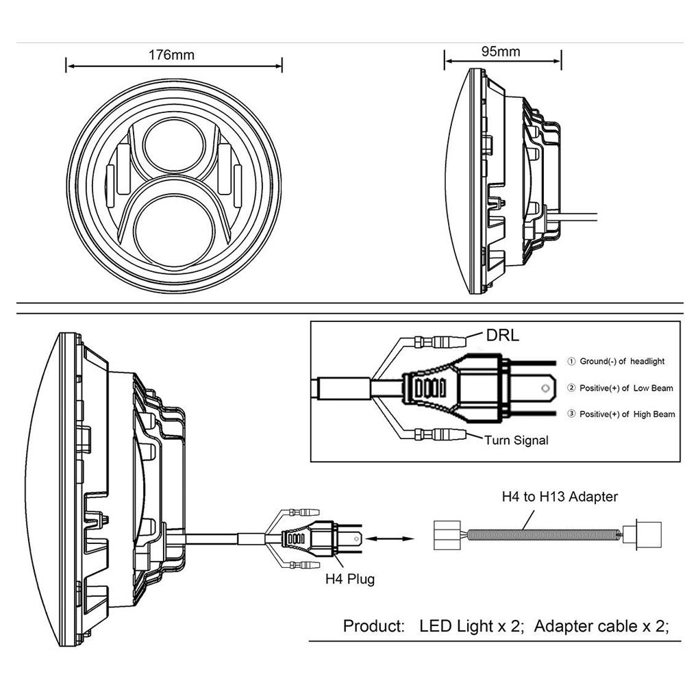 97 jeep wrangler headlight diagram 2x7 inch round led headlight halo angle eyes for jeep wrangler jk  2x7 inch round led headlight halo angle