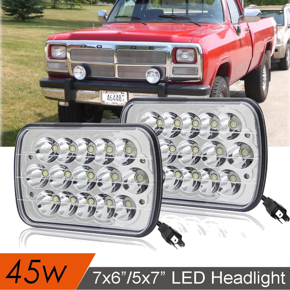 "4x6/"" Upgrade LED Headlight High//Low Bulbs for International 4700 4900 8100 Pack2"
