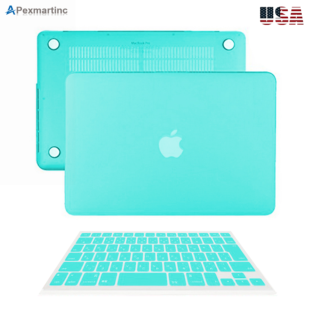 """Rubberized Keyboard Cover for Macbook Pro 13//15/"""" Air 11//13/""""inch Hard Case Shell"""