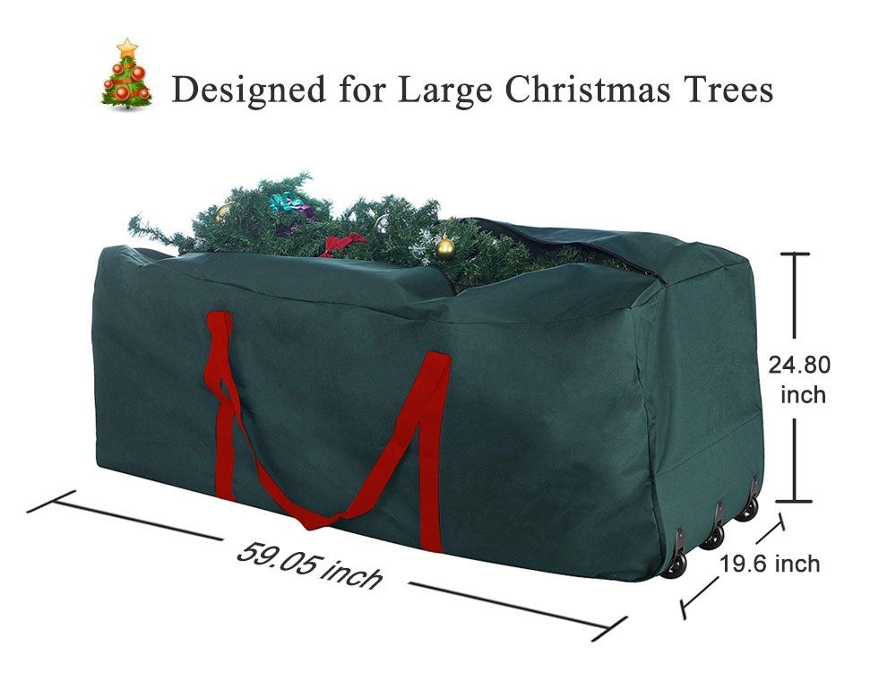 Christmas Tree Rolling Storage Bag.Details About Artificial Xmas Christmas Tree Rolling Storage Bag Bin Box Container Fr 9ft Tree
