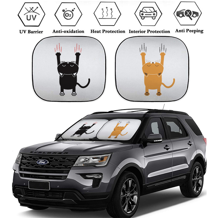 Size 59 x 31.5 Foldable Car Sunshade Reflect and Protect Your Vehicle from UV Rays Sun and Heat Fits for Cars Trucks SUV Windshield Sun Shade Visor