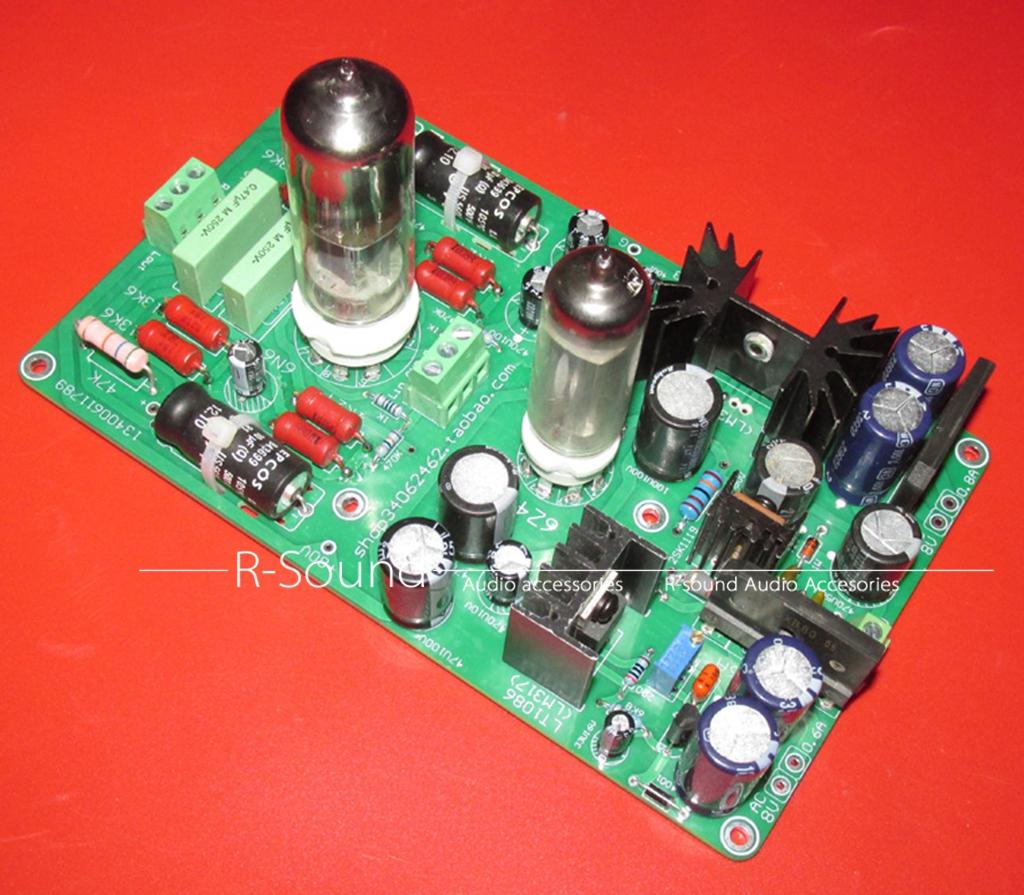 6N6+6Z4 Dual-channel Pre-amplifier Finished board W/ tubes