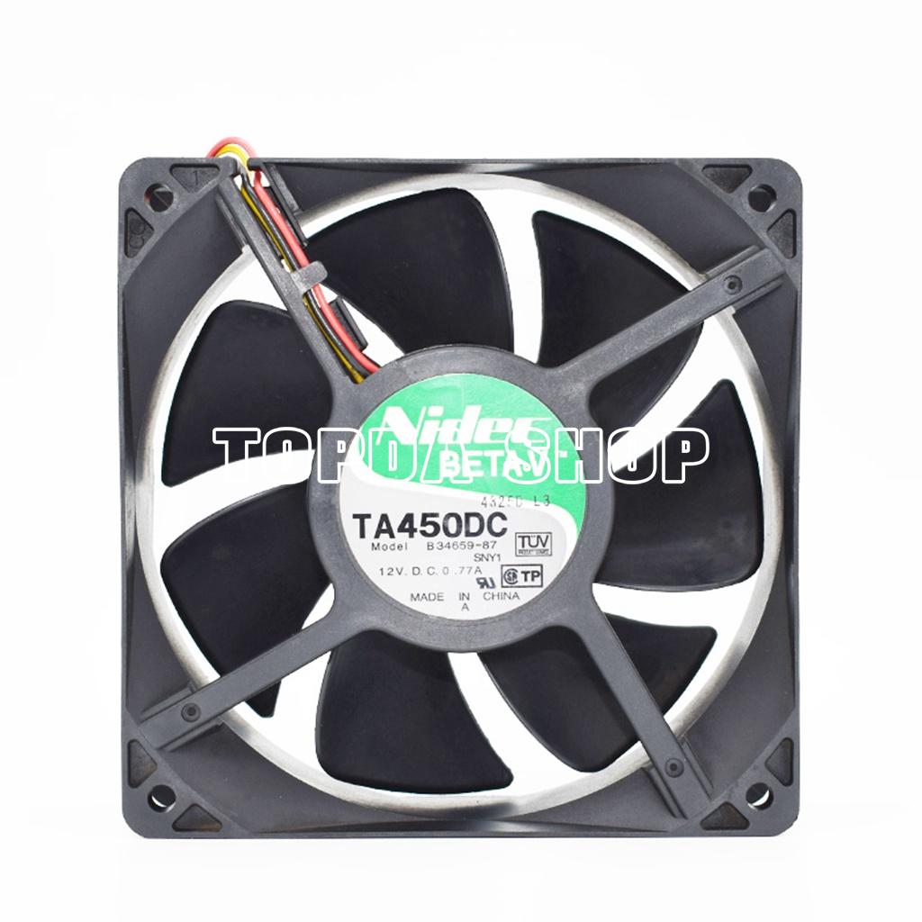 For 1pc Nidec B34659-87 Cooling fan 12V 0.77A 3pin 120*120*38mm