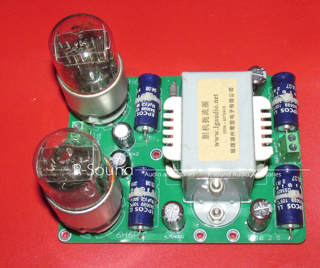 6h6p Full Wave Rectifier Filter Power Finished Board For Tube Preamp Circuit Capacitor Choke 12090mm