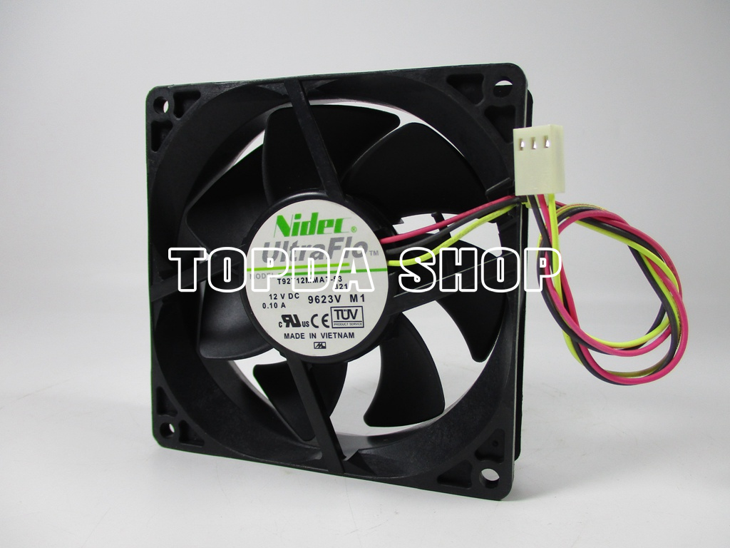1pc NIDEC U12E12MS7D3-52 Cooling fan 12V 0.09A 3pin 120mm #XX