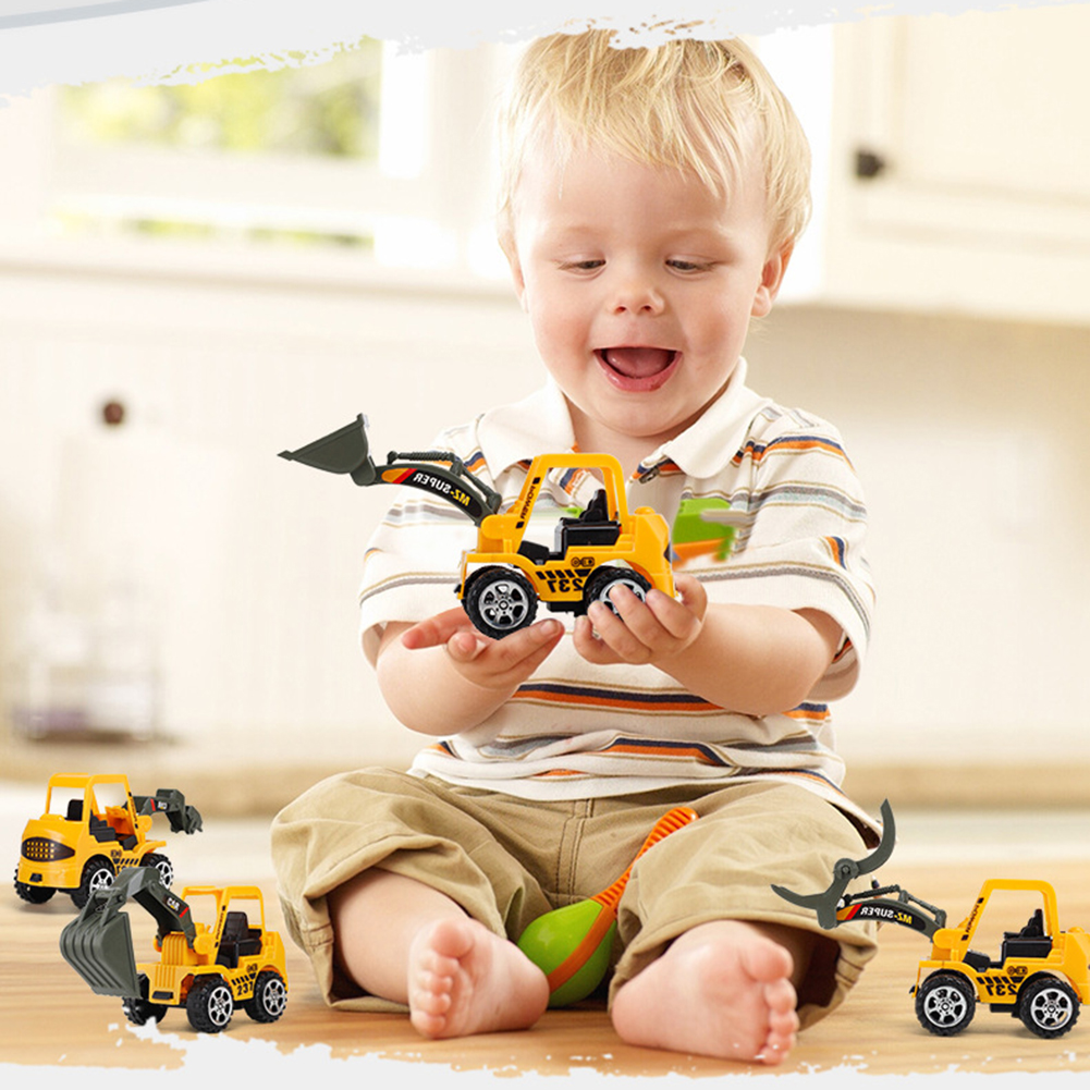 Details About 6Pcs Set Mini Alloy Engineering Car Model Tractor Toy Dump Truck Gift For Boy