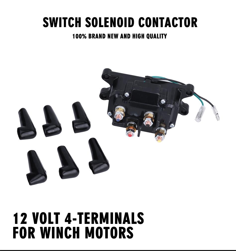 NEW 12 Volt 12V ATV SOLENOID RELAY WINCH REVERSING CONTACTOR SWITCH