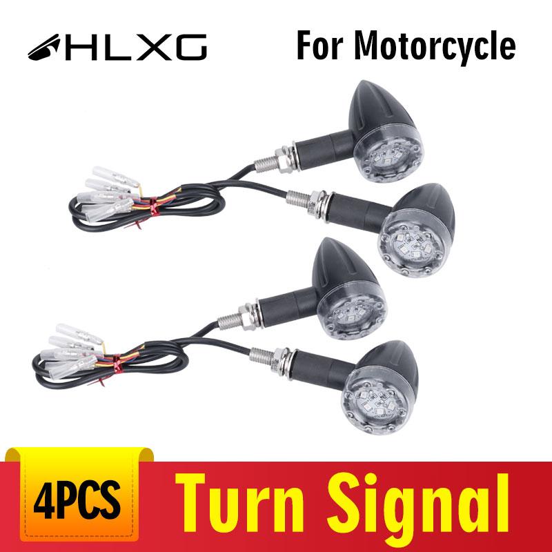 4x Motorcycle LED Turn Signal Brake Indicators Lights Lamp Bobber Chopper Custom
