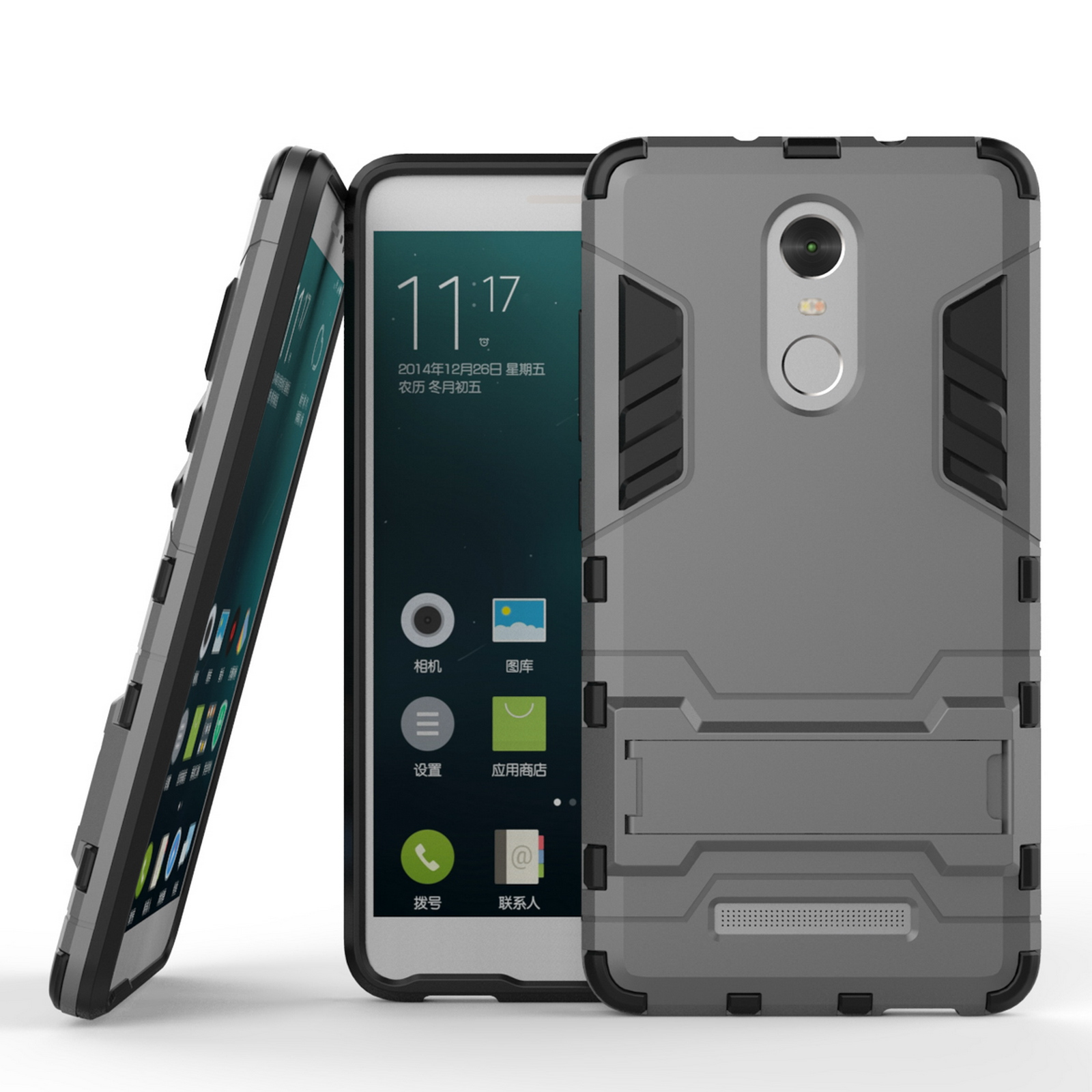 For Xiaomi Redmi Note 3 Case Hard Armor Stand Shockproof Protective Shell Cover
