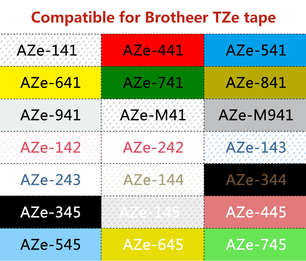 2 Schriftbänder kompatibel zu Brother P-Touch TZE-645 8m//18mm Weiß auf Orange