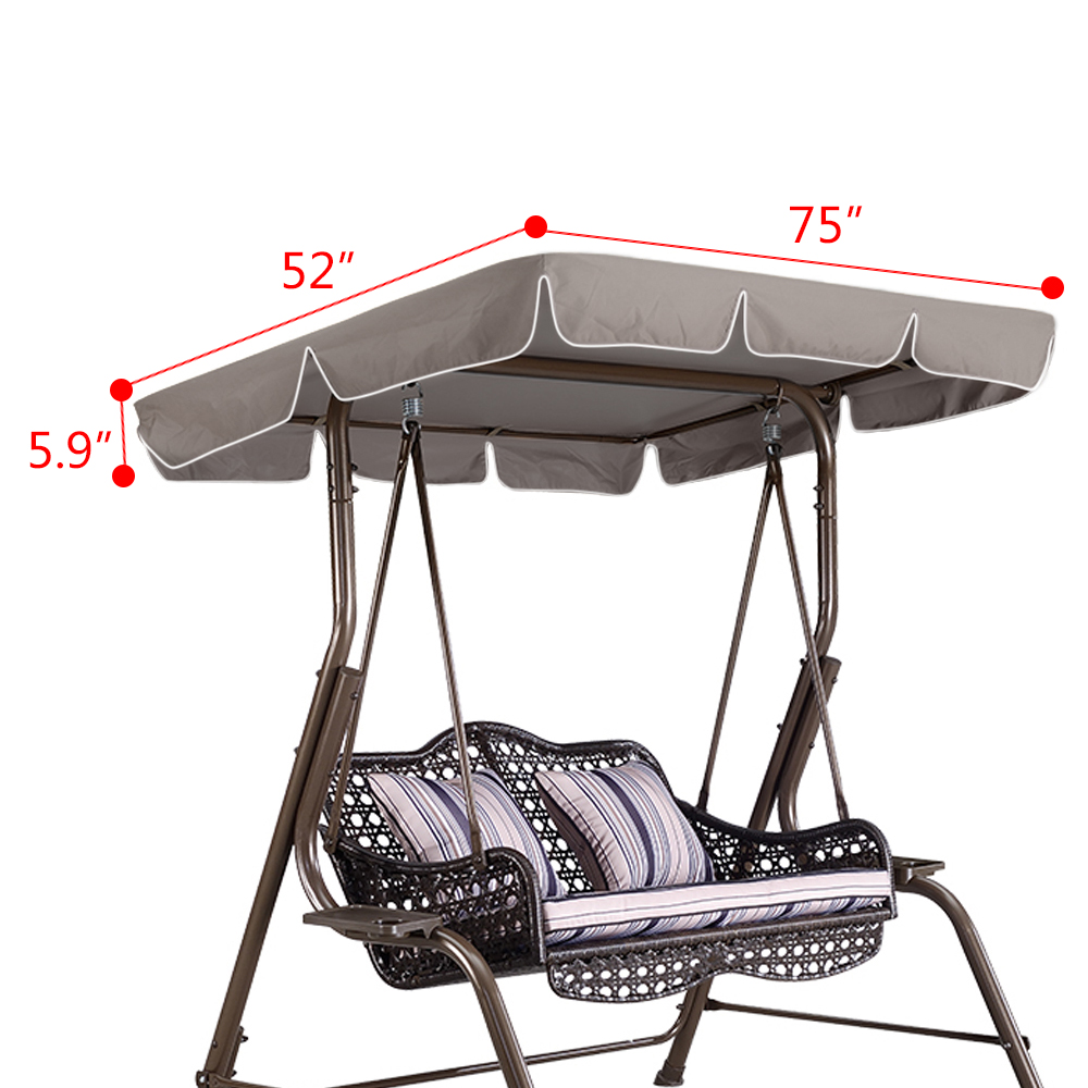 Swing Top Cover Canopy 300D Replacement Garden Patio ...
