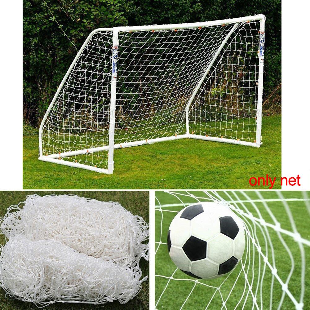 0eef682c8 Details about 24 x 8FT Full Size Football Net PE Soccer Goal Post Nets  Sport Training Match