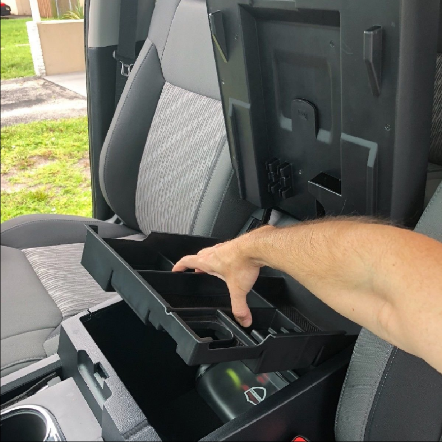 Vehicles Front Center Console Armrest Organizer Box For Toyota Tundra 2014-2019