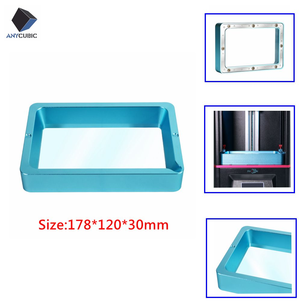 ANYCUBIC Aluminium Resin Vat Tank With FEP Film For SLA Photon 3D Printer US